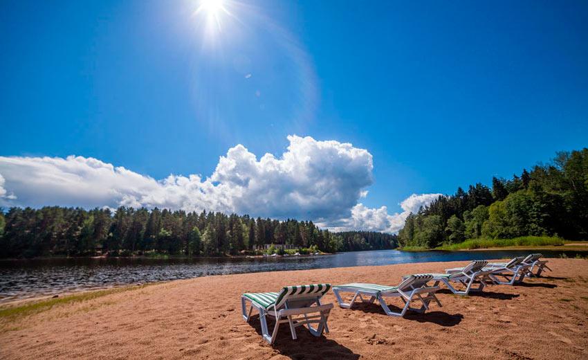 пляж озера Селигер