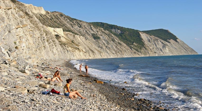 галечный пляж Супсех